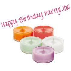 Happy Birthday PartyLite - 60 Duftteelichter