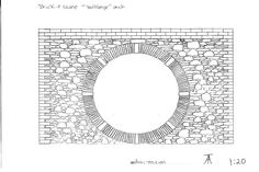 Brick and stone bullseye arch | www.southwest-stonecraft.co.uk