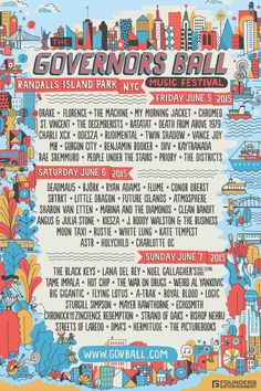 The Governors Ball NYC Music Festival | Gov Ball NYC | June 5-7, 2015 | Randall's Island Park, NYC