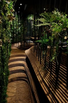 Ryoji Iedokoro Architecture Office have created a mesmerising interior for a yakiniku restaurant in the heart of Tokyo's Roppongi district. Architecture Office, Landscape Architecture, Landscape Design, Architecture Design, Japan Landscape, Building Architecture, Tokyo Design, Japan Design, Tokyo Restaurant