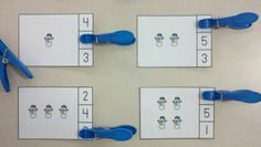 Snow Day Winter Count and Clip Cards  (Sets to 12)  $  http://www.teacherspayteachers.com/Product/Snow-Day-Winter-Count-and-Clip-Cards-Sets-to-12-1024270