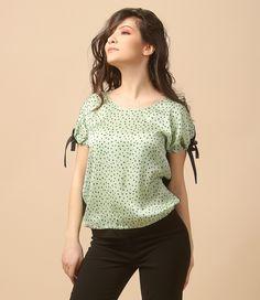 Spring green  YOKKO   spring17 #blouse #green #viscose #easy #relaxe #day #outfit #spring17 #newcollection #yokko