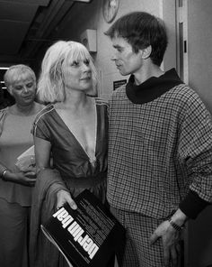 Debbie Harry hanging out with Arthur Russell.