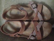 Birkenstock Womens Mens Brown Ankle Strap Sandals Size W 8 M 6 39 EUC