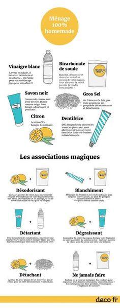 Infographie ingredients naturels menage