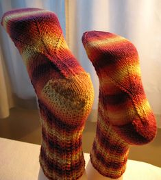 """The TECHsorcist was here! """"Michigan Slip Socks"""" by Anne Campbell for Twisted Fiber Arts now available on Ravelry: http://www.ravelry.com/patterns/library/michigan-slip-socks"""