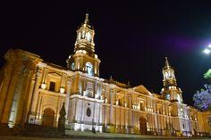 Cathedral in Arequipa, Peru.
