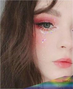 141 trendy eye korean make up asian makeup - page 20 Kawaii Makeup, Cute Makeup, Pretty Makeup, Makeup Art, Hair Makeup, Pink Eye Makeup, Natural Eye Makeup, Girls Makeup, Metallic Makeup