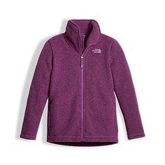 The North Face Girls' Crescent Full Zip Fleece Jacket: Kids