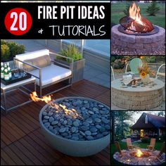 20 Fire Pit Ideas - With Instructions And More | One of these ideas is sure to inspire you to build your own fire pit to be used for many years to come.