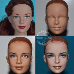 Repaint progress #madambu #tonner #tonnerdoll #brendastarr #ooak #repaint #dutchess #portraitooak Realistic Face Drawing, Realistic Dolls, Ooak Dolls, Barbie Dolls, Art Dolls, Monster High Repaint, Monster High Dolls, Doll Crafts, Diy Doll