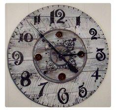 Hand painted spool clock