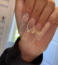 Bling Acrylic Nails, Simple Acrylic Nails, Best Acrylic Nails, Acrylic Nail Designs, Garra, Really Cute Nails, Long Square Acrylic Nails, Acylic Nails, Fire Nails