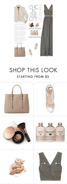 """Untitled #2649"" by amimcqueen ❤ liked on Polyvore featuring Zara, MANGO, Aperlaï, Nude by Nature, Hervé Léger and Rahul Mishra"