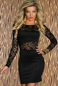 EAST KNITTING New Bodycon Clubwear Bandage Dress Women y Black Lace long sleeve Dresses High quality Alternative Measures - Brides & Bridesmaids - Wedding, Bridal, Prom, Formal Gown Cheap Dresses, Sexy Dresses, Bandage Dresses, Fashion Dresses, Pencil Dresses, Mini Dresses, Party Dresses, Bodycon Dress, Long Sleeve Fitted Dress