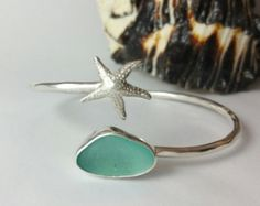 Sea Glass Bracelet, Starfish Jewelry, Sea Glass Jewelry, Beach Glass Bracelet, Sea Glass, Bracelet