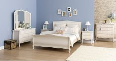 Springwood dark four poster wood grain bedroom furniture suite with ...
