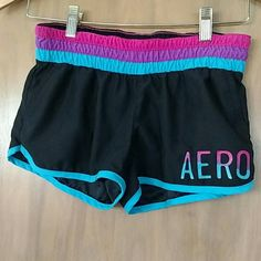 Aeropostle Beach Shorts These are super cute shorts and in excellent condition! Love the colors!! They have a back Velcro pocket and 2 front net pockets. Aeropostale Swim