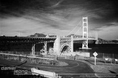 Golden Gate Bridge in vintage 60's look.