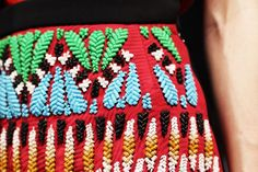 Peter Pilotto skirt, incredible detailing. But I sure don't envy whoever had to stitch this by hand...