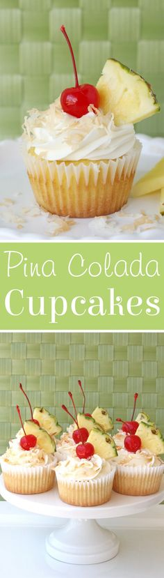 SIMPLY DELICIOUS!  Pina Colada Cupcakes (from scratch)