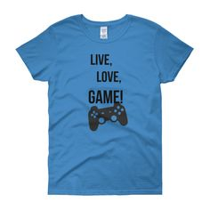 WOMEN'S FIT LIVE, LOVE, GAME TEE - Thumbnail 4