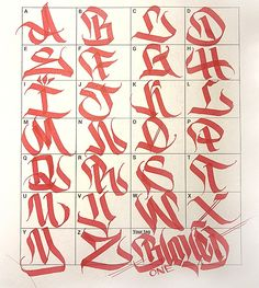 Graffiti Letters: 61 graffiti artists share their styles - Graffiti - Typography Graffiti Lettering Alphabet, Graffiti Alphabet Styles, Tattoo Fonts Alphabet, Chicano Lettering, Graffiti Font, Graffiti Tagging, Graffiti Styles, Graffiti Artists, Calligraphy Fonts Alphabet