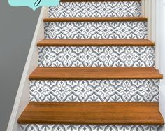Decorative Stair-riser is hot in latest home decorating scene, we have make it easy for you to uplift your stairs in just a peel away. These strips are self adhesive and can be removed easily without damaging the surface. Perfect for rented home and best solution to cover up unsightly old stair and make it into a conversation master piece!  You will receive 15 STRIPS that cover 15 steps, each strip measures 40in (100cm) in length. Choose the standard risers height. If your risers vary in…