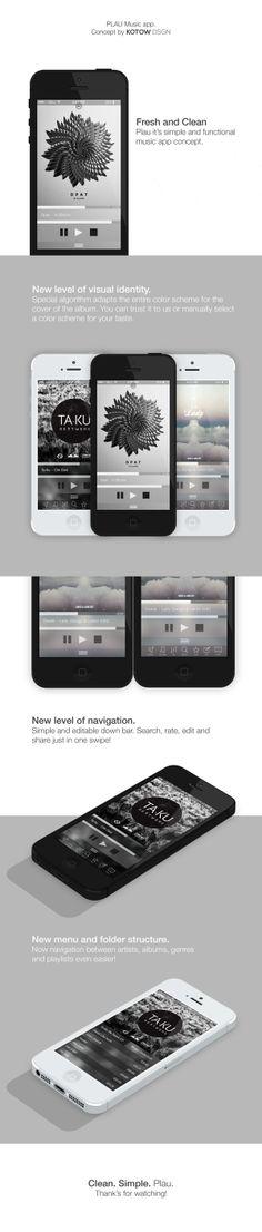 Plau. Music app concept. by KOTOW DSGN, via Behance