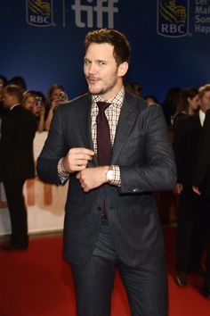 "Chris Pratt attends ""The Magnificent Seven"" Premiere during the 2016 Toronto International Film Festival at TIFF Bell Lightbox on September 8, 2016 in Toronto, Canada."