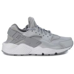 half off 19e67 e99df Sneaker Air Huarache Argento (£93) ❤ liked on Polyvore featuring shoes,  sneakers