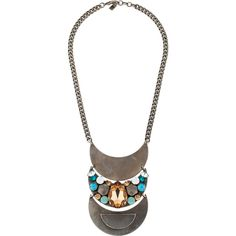 Pre-owned Dannijo Crystal Pendant Necklace ($145) ❤ liked on Polyvore featuring jewelry, necklaces, crystal necklace pendant, dannijo, dannijo jewelry, silver tone necklace and crystal necklace