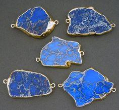 Dark Blue Sea Sediment Jasper Slab Pendant by jewelersparadise