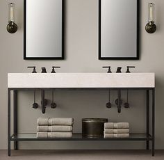 Hudson Metal Double Frame Washstand for Barn/Apt over Garage/Guest House?: