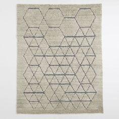 Carla Peters Geo Line Wool Shag Rug   West Elm   maybe $799 9x12 $599 8x10