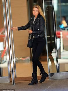 Laid back: Stella Maxwell, 24, was spotted looking very relaxed ahead of the Victoria's Se...