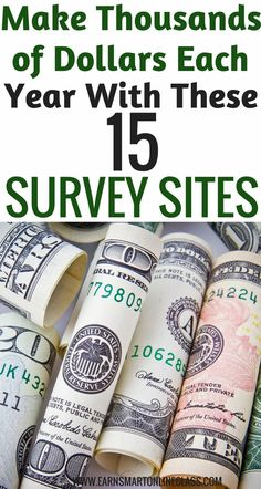 Make thousands of dollars each year with these 15 paid online survey sites| extra income ideas| Earn quick cash online|