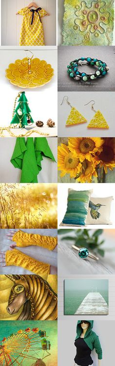 Lemon and Lime by Paula on Etsy--Pinned with TreasuryPin.com #Etsyvintage #Estyhandmade #summerfinds