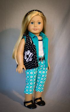 Teal and Daisies by AnnasGirls on Etsy