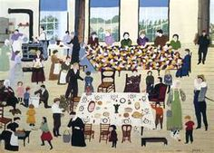 The Quilting Bee  - Grandma Moses