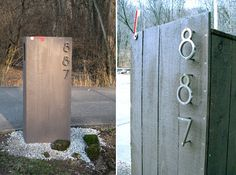 build this, place numbers same, add path light hanging over on right, then some granite posts?