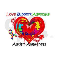 Autism Awareness Heart Decal on CafePress.com