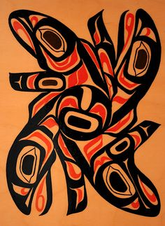 northwest native american art salmon - Google Search Kunst Der Aborigines, Native American Artwork, Haida Art, Inuit Art, Native Design, West Art, Nativity Crafts, Coastal Art, Indigenous Art