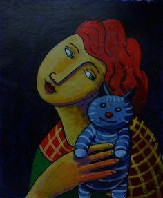 Cat, Kitten, Kittens, Chats, Gatos, :) Dutch Fine Artworks made in the Netherlands by Dutch artist Jacques Tange - Volupt Art