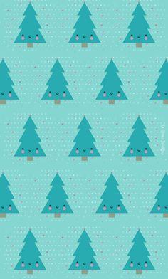 [freebie] Colección de tres fondos para móvil muy navideños | Dibucos