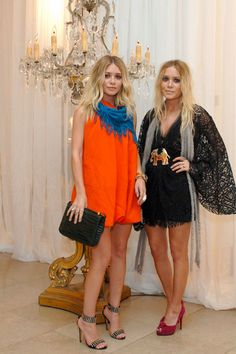 Ashley Olsen in orange dress! dig it!