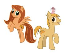 Kim Possible and Ron Stoppable ponies. #KimPossible