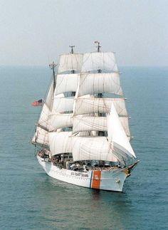Coast Guard Clipper Ship...USCGS EAGLE - frequently docked at the US Coast Guard Academy, New London, CT.  I've been aboard.
