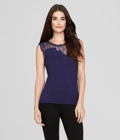 Elie Tahari is known for his impressive commitment to detail, and the hand-sewn lace in the sleeveless, floral Davis Knit is no exception.