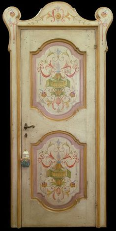 Reproduction of Antique Italian Painted Door 06